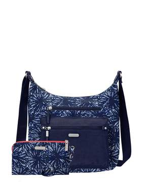 Baggallini Day Trip Floral Hobo Bag with RFID Wristlet