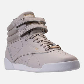 Reebok Girls' Grade School Freestyle Hi Muted Casual Shoes