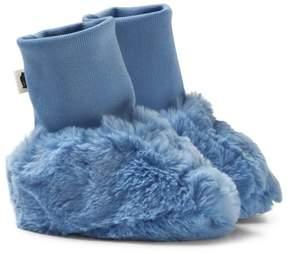 Mini Rodini Light Blue Faux Fur Baby Boots