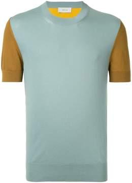 Cerruti colour-block knitted T-shirt