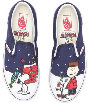 Vans Kids Classic Slip-On x Peanuts Charlie/Tree) Kids Shoes