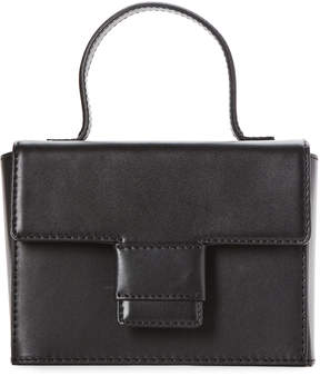 Steven Alan Black Meryl Medium Box Leather Crossbody