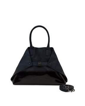 Akris Ai Small Lacquered Nubuck Top-Handle Bag