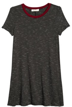 Love, Fire Girl's Stripe Ringer T-Shirt Dress