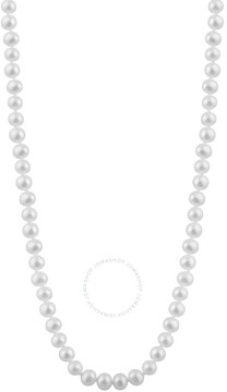Bella Pearl Single Strand White Freshwater Pearl 18 Necklace