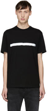 Neil Barrett Black Brush Stroke T-Shirt