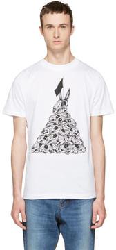 McQ White Bunny Flag T-Shirt
