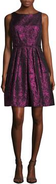 Cynthia Steffe Women's Sophie Brocade Pleated Flare Dress