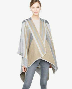 Ann Taylor Geo Striped Cape