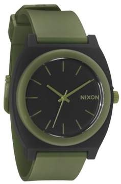 Nixon Quartz Time Teller Polyurethane Matte Black Mens Watch A119-1042