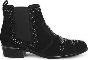 Office Abracadabra studded suede chelsea boots