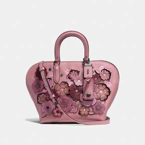 COACH Coach Dakotah Satchel 22 With Linked Tea Rose - DUSTY ROSE/BLACK COPPER - STYLE