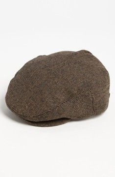 Brixton Men's 'Hooligan' Driving Cap - Brown