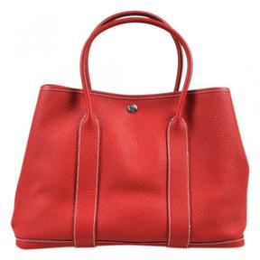 Hermes Garden Party leather tote - RED - STYLE