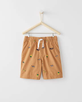 Hanna Andersson Embroidered Canvas Shorts