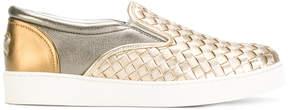 Bottega Veneta intrecciato slip on sneakers