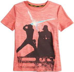 Star Wars A Collection For Kohls Boys 4-7x a Collection for Kohl's Luke Skywalker and Darth Vader Light Saber Tee