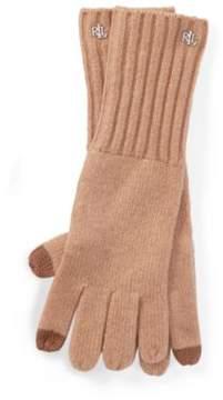Ralph Lauren Lrl Monogram Gloves Camel One Size