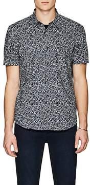 John Varvatos Men's Floral Cotton Short-Sleeve Shirt