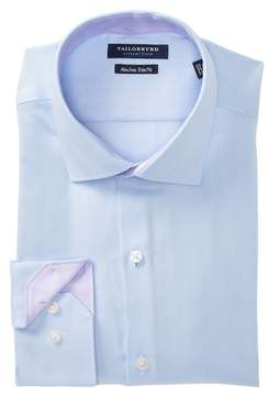 Tailorbyrd Herringbone Trim Fit Dress Shirt