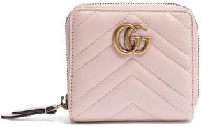 Gucci GG Marmont quilted-leather wallet - PINK - STYLE