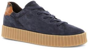 Geox Hidence Python Embossed Platform Sneaker