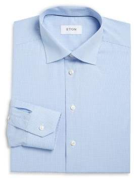 Eton Micro Checked Contemporary Fit Dress Shirt