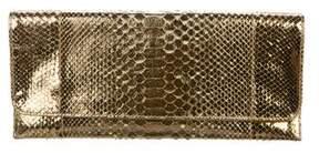 Carlos Falchi Metallic Python Clutch