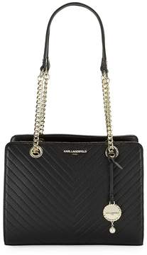 Karl Lagerfeld Paris Women's Charlotte Leather Tote