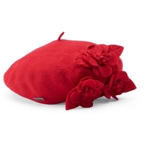 Betmar Wool Floral Beret