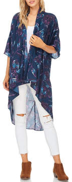 Everly Navy Floral Kimono