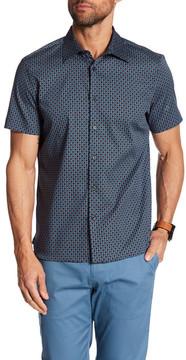 Perry Ellis Deco Square Print Short Sleeve Regular Fit Shirt