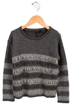Ikks Girls' Metallic Striped Sweater
