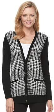Croft & Barrow Women's V-Neck Button-Down Cardigan