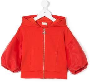 Elisabetta Franchi La Mia Bambina puffy sleeves hooded jacket