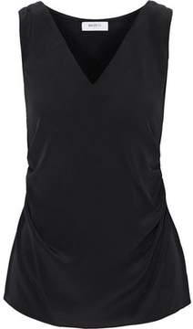 Bailey 44 Ruched Silk Crepe De Chine And Stretch-Jersey Top