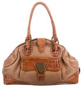 Etro Embossed Leather Frame Shoulder Bag