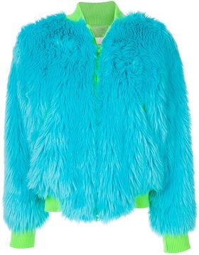 Alberta Ferretti oversized textured jacket