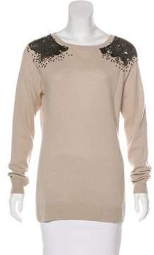 Autumn Cashmere Embellished Knit Sweater