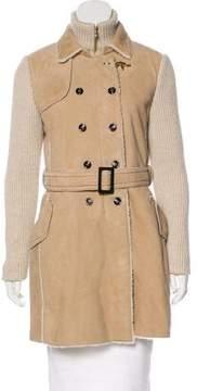Fay Layered Shearling Coat
