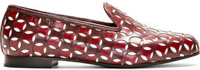 Marc Jacobs Burgundy Leather Offset Cut-Out Loafer