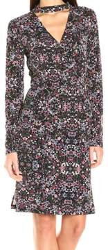 BCBGeneration Womens Floral Print Blouson Cocktail Dress
