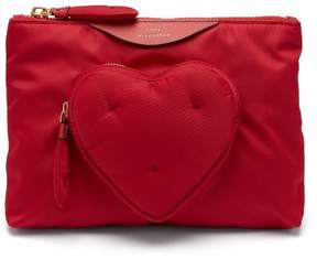 Anya Hindmarch Chubby Heart Pouch - Womens - Red