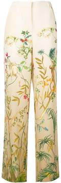 Alberta Ferretti floral high waisted trousers