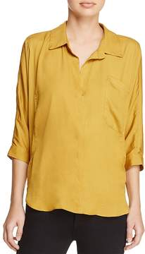 d.RA Marie Collared V-Neck Shirt