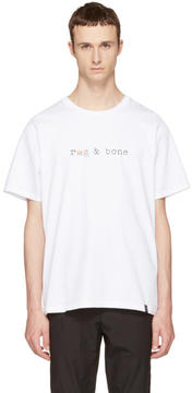 Rag & Bone White Glitch Logo T-Shirt