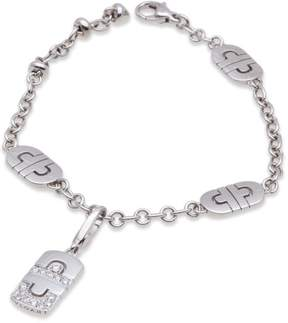 Bulgari Bvlgari 18K White Gold Parentesi Diamond Bracelet