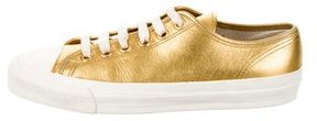Comme des Garcons Metallic Leather Sneakers