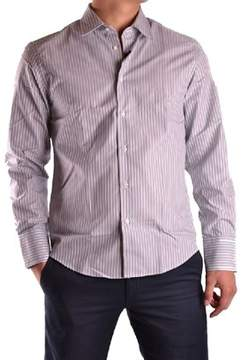 Richmond Men's White/grey Cotton Shirt.