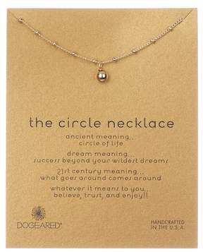 Dogeared 14K Yellow Gold 'The Circle' Vermeil Beaded Ball Pendant Necklace